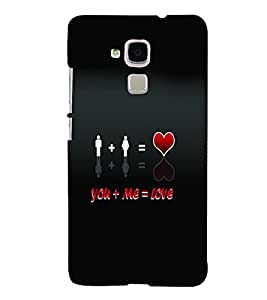 PrintVisa Romantic Love Quotes 3D Hard Polycarbonate Designer Back Case Cover for HONOR 5C