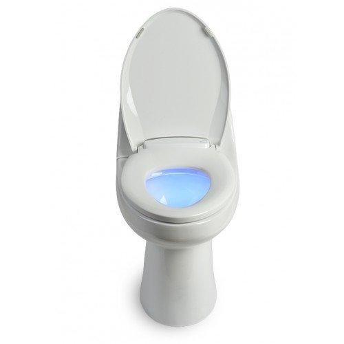 Brondell L60-RW LumaWarm Heated Nightlight Round Toilet Seat, White (Home Depot Toilet Seat Standard compare prices)