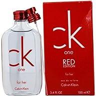 Calvin Klein C.k. One Red Edition Eau de Toilette Spray for Women, 3.4 Ounce