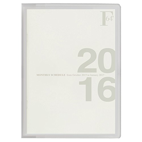 キョクトウ FOBCOOP 2016年 手帳 マンスリー A5 ホワイト PBF47W16