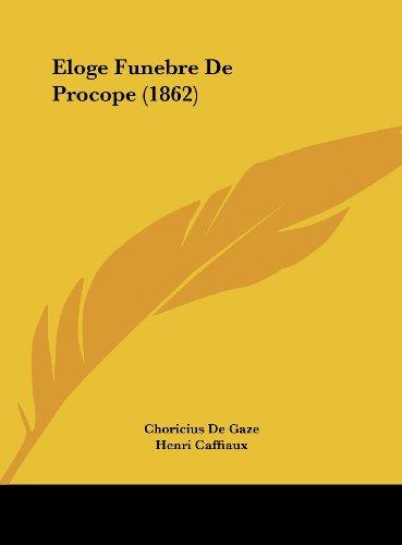 Eloge Funebre de Procope (1862)