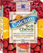 Calcium Soft Chews Fruit Flavor - 75 - Chewable