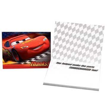 Disney Cars Thank You Notes, 8ct - 1