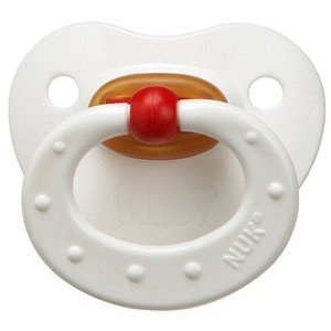 Nuk Classic Latex Bpa Free Pacifier, 6 Months, Colors May Vary front-998012
