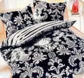 4 teilige bettwaesche barock schwarz weiss. Black Bedroom Furniture Sets. Home Design Ideas