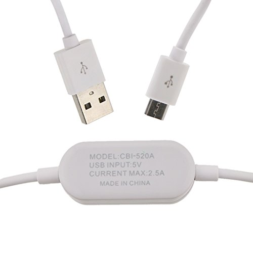 Ancerson High Quality Creative Safe Electric Current Display Micro Usb Charge Charging Cable For Samsung Galaxy S4 I9500/ S4 Mini/ S3 I9300/ S2/ Grand 2/ Note 2 N7100/ Mega 6.3 I9200/ Mega 5.8 I9152, Galaxy I8262D/ I9268, Htc G18 Sensation Xe, Galaxy Ace2