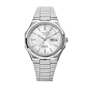Seiko Gents 5 Stainless Steel Siver Dial Watch - SNKK41K1