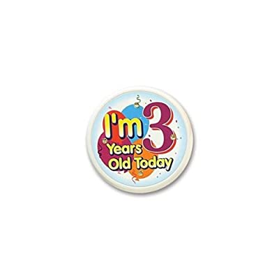Beistle FB53 I'm 3 Years Old Today Flashing Button, 2-1/2-Inch