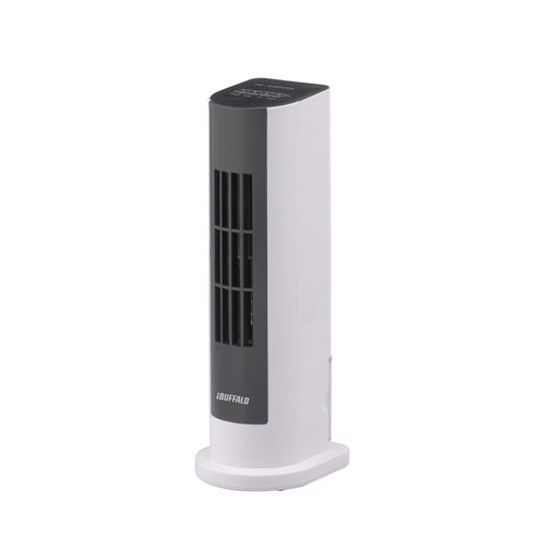iBUFFALO USB冷風扇風機 タワータイプ 加湿機能付 風力2段階調節 ホワイト BSOTOS10WH