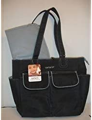 Carter's Everyday Tote Diaper Bag Black And Grey