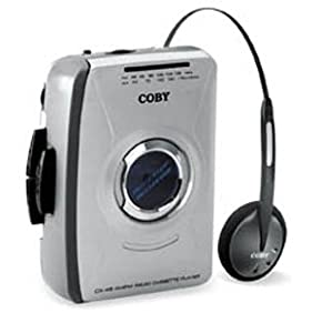Coby Am/Fm Cassette Player W/ Headphones Auto-Stop Tape Mechanism Analog Tuner Stereo