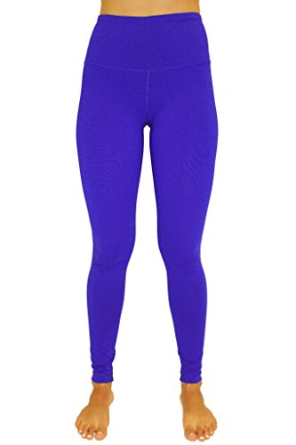 90 Degree By Reflex - High Waist Power Flex Legging - Tummy Control - Reflex Blue Small