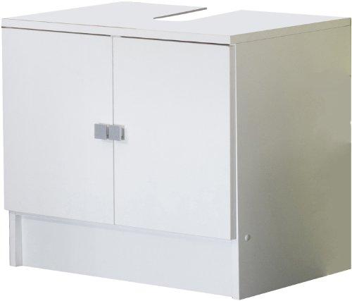 6044A2121A17 Waschbecken-Unterschrank, 2 Türen, Weiß / Weiß