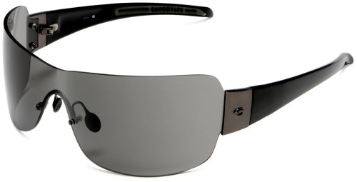 Gargoyles Men's Nitro Black Frame Oversized Sunglasses