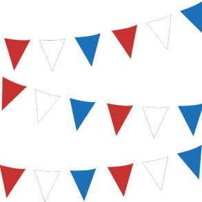 30' Outdoor Patriotic Pennant Banner