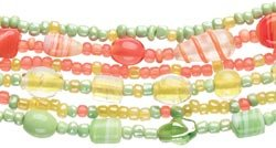Cousin Bead Girl Glass Bead Kits W/Stretch Cord Citrus 325-2003; 3 Items/Order