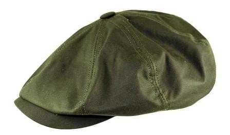 Stetson Hatteras Waxed Newsboy Cap (59, Olive)