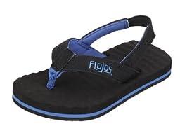 Flojos Kids Baby Boy\'s Tyke (Toddler) Black/Blue Sandal 5 Toddler M
