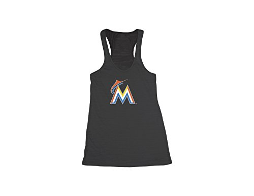 MLB Miami Marlins Women's Racer Back Tank Top, Large, Black