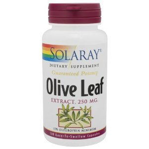 Solaray Olive Leaf Extract Supplement, 250 mg, 120 Count