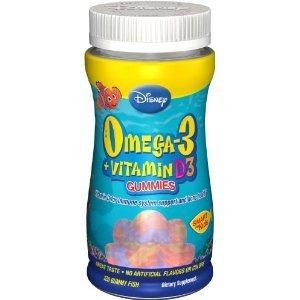 Disney Omega-3 DHA + Vitamin D3 Gummies - 120 ct (Pack of 2)