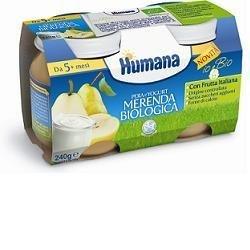 Humana merenda biologica pera e yogurt