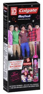 Colgate One Direction Maxfresh Toothbrush & Toothpaste Limited Edition Combo Pack 1D