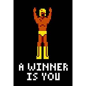 A Winner Is You Video Game Poster - 13x19 custom fit with RichAndFramous Black 13 inch Poster Hangers