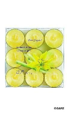 Highly Scented Tealight Candles - 9 Pack - Bamboo & Lily