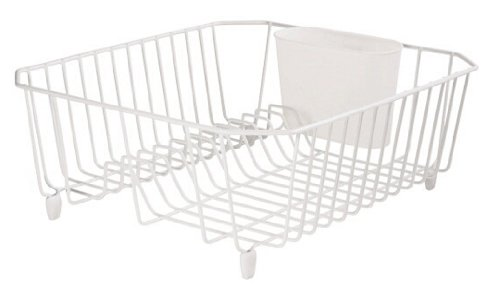 Rubbermaid 6008AR WHT White Twin Sink Dish Drainer WhiteB0000CF3HB : image