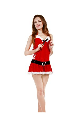 JUNPAI Women's Santa Dress Including Dress and Belt