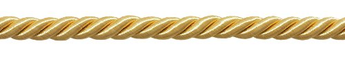 "3/8"" LARGE LIGHT GOLD DECORATIVE CORD, Basic Trim Collection, Style# 0038NL Color: B7, Sold by The Yard"