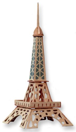3-D Wooden Puzzle - Small Eiffel Tower -Affordable Gift for your Little One! Item #DCHI-WPZ-P030A