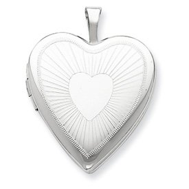 Genuine IceCarats Designer Jewelry Gift Sterling Silver 20Mm Heart Locket