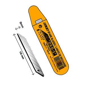 Olfa SAB-10 - Lame per taglierino, 9 mm, in acciaio INOX, angolo della lama: 30°, per arti grafiche
