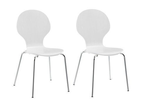 White Wood Chair front-1073425