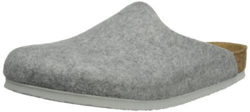 Birkenstock Amsterdam, Sabot unisex adulto, Grigio (Light Grey) 35 (Slim)
