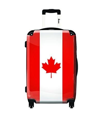 Ikase Drapeau Canada Rolling Luggage, Multi, 10X16X24