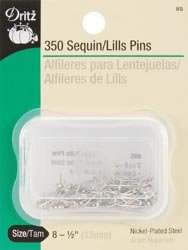Dritz Sequin Pins Size 8 350/Pkg 8S; 6 Items/Order