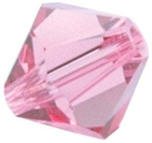 Swarovski Crystals Facet Bicone Beads 4mm 12/Pkg-Rose (Pink)