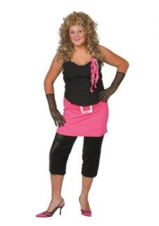 80's Pop Star Fancy Dress Costume - Plus Size