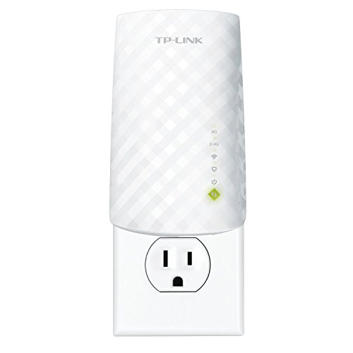 Extensor de Rango de Wi-Fi TP-LINK RE200 AC750 de banda dual con enchufe para pared