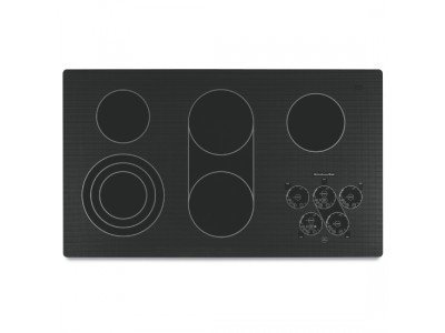 KitchenAid KECC568RPB 36 Electric Cooktop - Black