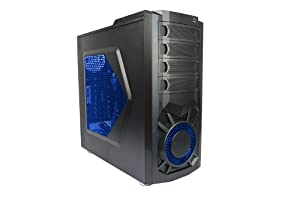 Xion XON-570 Steel ATX Mid Tower Computer Case - Retail Cases - Black with Blue LED Light
