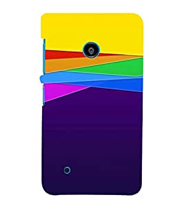 TRICOLOURED PATTERN OF A VINTAGE SKETCH 3D Hard Polycarbonate Designer Back Case Cover for Nokia Lumia 530 :: Microsoft Lumia 530