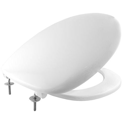 Bemis 2001STXT Imola STA-TITE Thermoset Toilet Seat with STA-TITE Stainless Steel Hinges - White