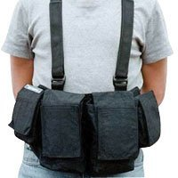 Newswear Mens Documentary Chestvest, SLR Camera & Lens Carry System, Black.