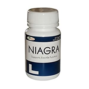 Niagra for Erectile Dysfunction - ED - Maximum Strength Formula - 1 Bottle - 60 Pills - All Natural Alternative for Erectile Dysfunction - ED