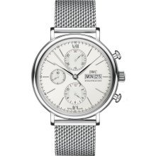 IWC Portofino Silver Dial Chronograph Mens Watch IW391005