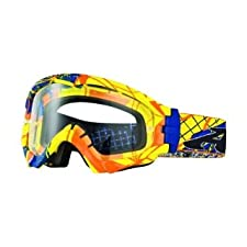 Arnette Series 3 MX Fragment Goggles with Clear Lens (Blue/Yellow/Orange)